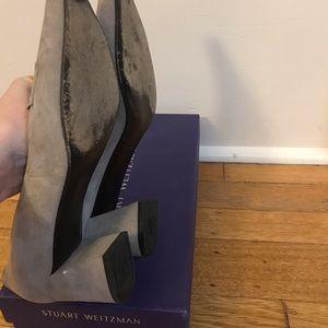 Stuart Weitzman Shoes - Stuart Weitzman Grey Suede Pumps